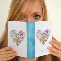 Heart diary - handmade bound journal, 144 pages